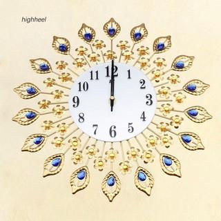 Đồng hồ treo tường hình bông hoa đính đá thời trang