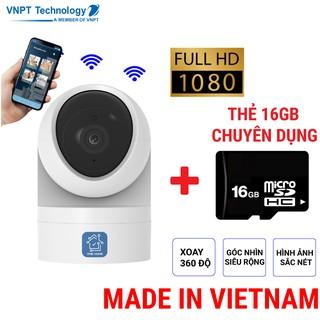 Camera IP Wifi VNPT Technology ONE HOME HVIP02 xoay 360 kèm thẻ 16Gb hàng Việt Nam thumbnail