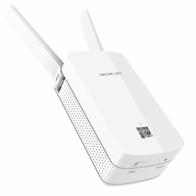 [SALE 10%] Bộ kích sóng wifi Mercury Repeater MW300RE - xuyên tường 2 anten 300mbps, khuyếch đại, tă