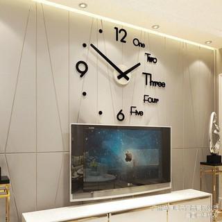 Đồng Hồ Dán Tường 3D Trang Trí Decor Đường Kính 120cm