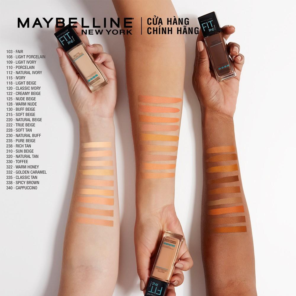 Kem nền mịn nhẹ, kiềm dầu Maybelline New York Fit Me 30ml