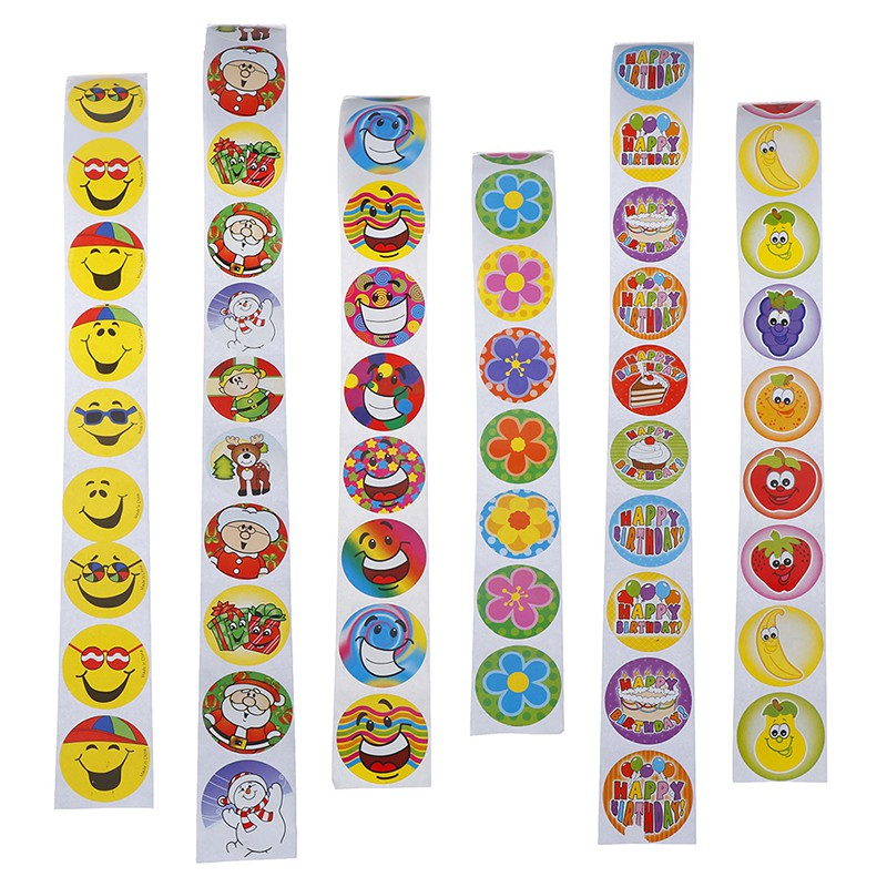 ❀GIÁ RẺ❀Reward stickers roll kids sticker scrapbooking 3d cartoon characters funny toys