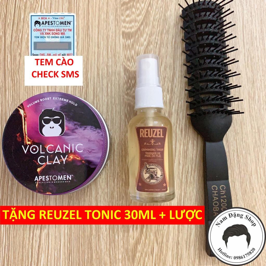 Sáp Vuốt Tóc Volcanic Clay Version 4 + Tặng Reuzel Grooming Tonic 30ml + Tặng Lược Chaoba