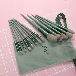 [ bộ 13 cây ] Cọ trang điểm Fix Hồng 13 Cây,bộ Cọ makeup Trang Điểm cá nhân kèm túi đựng HT 8