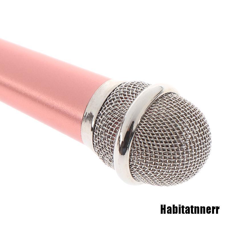 Micro Hát Karaoke Mini Giắc Cắm 3.5mm Chuyên Dụng Cho Điện Thoại Pc