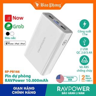 [Mã ELFLASH5 giảm 20K đơn 50K] Pin Dự Phòng RAVPower RP-PB166 10000mAh QC 2.0, Output 3.4A