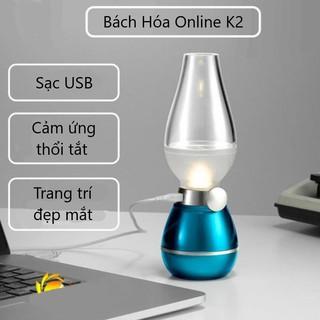 Đèn dầu điện tử cảm ứng LED thổi tắt không khói trang trí bàn thờ, phòng khách, phòng ngủ, quán cafe