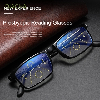 DIACHA Anti-fatigue Anti Blue Light Reading Glasses Radiation Protection Multifocal Bifocal Eyeglasses Progressive Presbyopic Eyewear Anti-UV Men Women Fashion Anti-blue Rays Retro Classic Computer Goggles/Multicolor