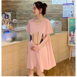 [Mã WASKT304 giảm 15% tối đa 30K đơn 99K] Váy Bầu Đầm Bầu Xinh Thun Hình Cao Cấp A1768 thumbnail