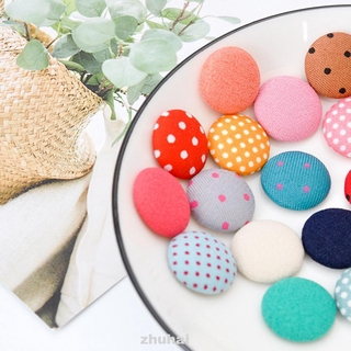 100pcs 1.5cm Handmade Accessories Mix Color Crafts Sewing Tool Cloth Fabric