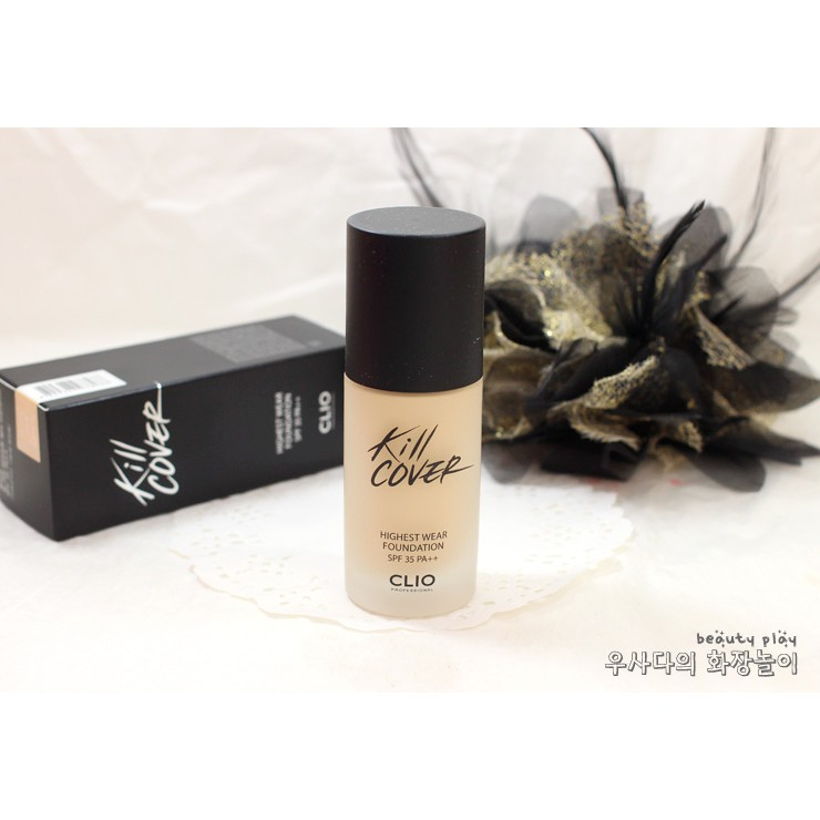 Kem Nền Clio Kill Cover Highest Wear Foundation SPF50 Pa+++