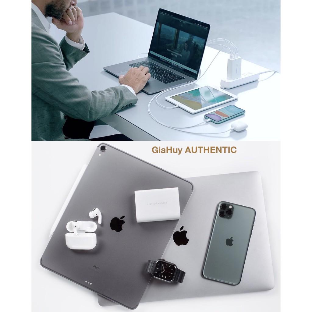 Củ sạc nhanh Macbook Pro, iPad Pro, iPhone 12, Note 10, S10 HYPERJUICE 100W GaN PD 3.0 & QC 3.0
