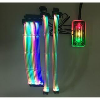 Dây Nguồn Nối Dài Coolmoon Led RGB 16 Triệu Màu - Đồng Bộ Hub, Cắm Cổng Fan thumbnail