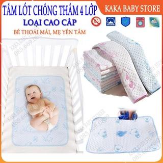 Tấm lo t cho ng tha m 4 lớp , tha m cho ng tha m cho bé sơ sinh, chất liệu cotton mềm mại Kaka Baby Store thumbnail
