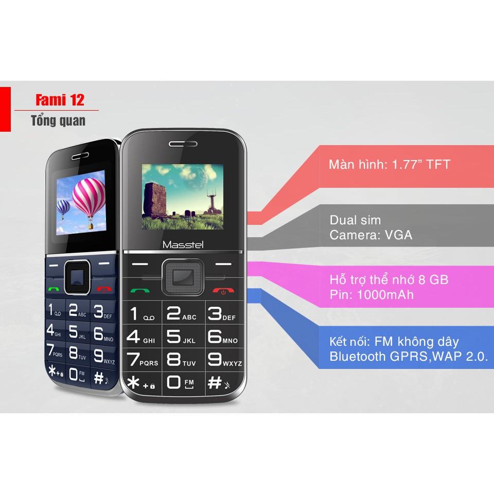 Điện thoại Masstel Fami 12 - Dành Cho Người Cao Tuổi