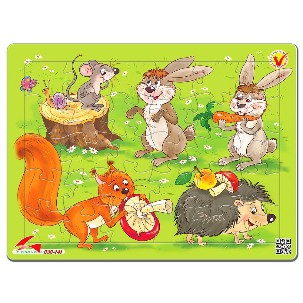 (19 Tranh mới xuất xưởng) Tranh xếp hình cho bé 30 mảnh ghép jigsaw puzzle. Đố chơi trí tuệ cho bé.