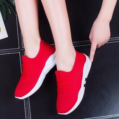 Giày Thể Thao Nữ - Đỏ Đế Trắng
