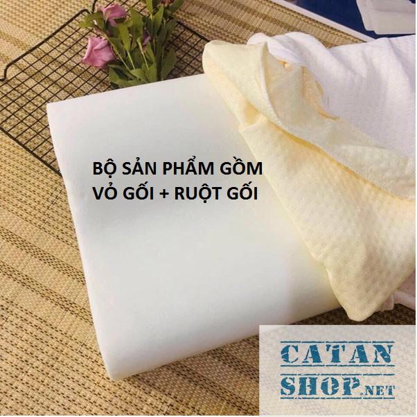 GỐI CAO SU NON ❤️FREE SHIP❤️ Bộ vỏ ruột gối nằm CAO SU NON cho người lớn, memory foam chống ngáy ZARA HOME