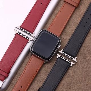 Dây da Apple Watch SE 6 5 Band 44mm Iwatch Series 4 3 2 1, dây đồng hồ thông minh T500, HW12