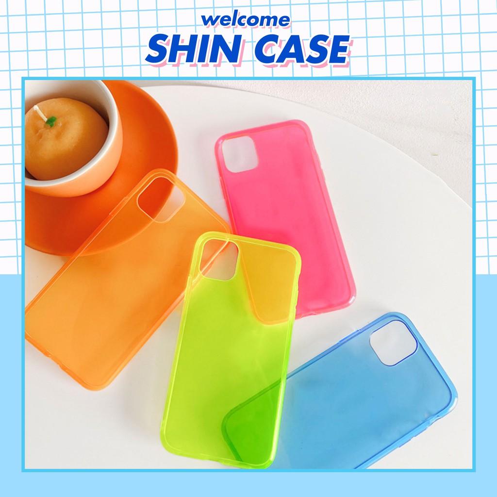 Ốp lưng iphone Neon trong suốt 5/5s/6/6plus/6s/6s plus/6/7/7plus/8/8plus/x/xs/xs max/11/11 pro/11 promax – Shin Case