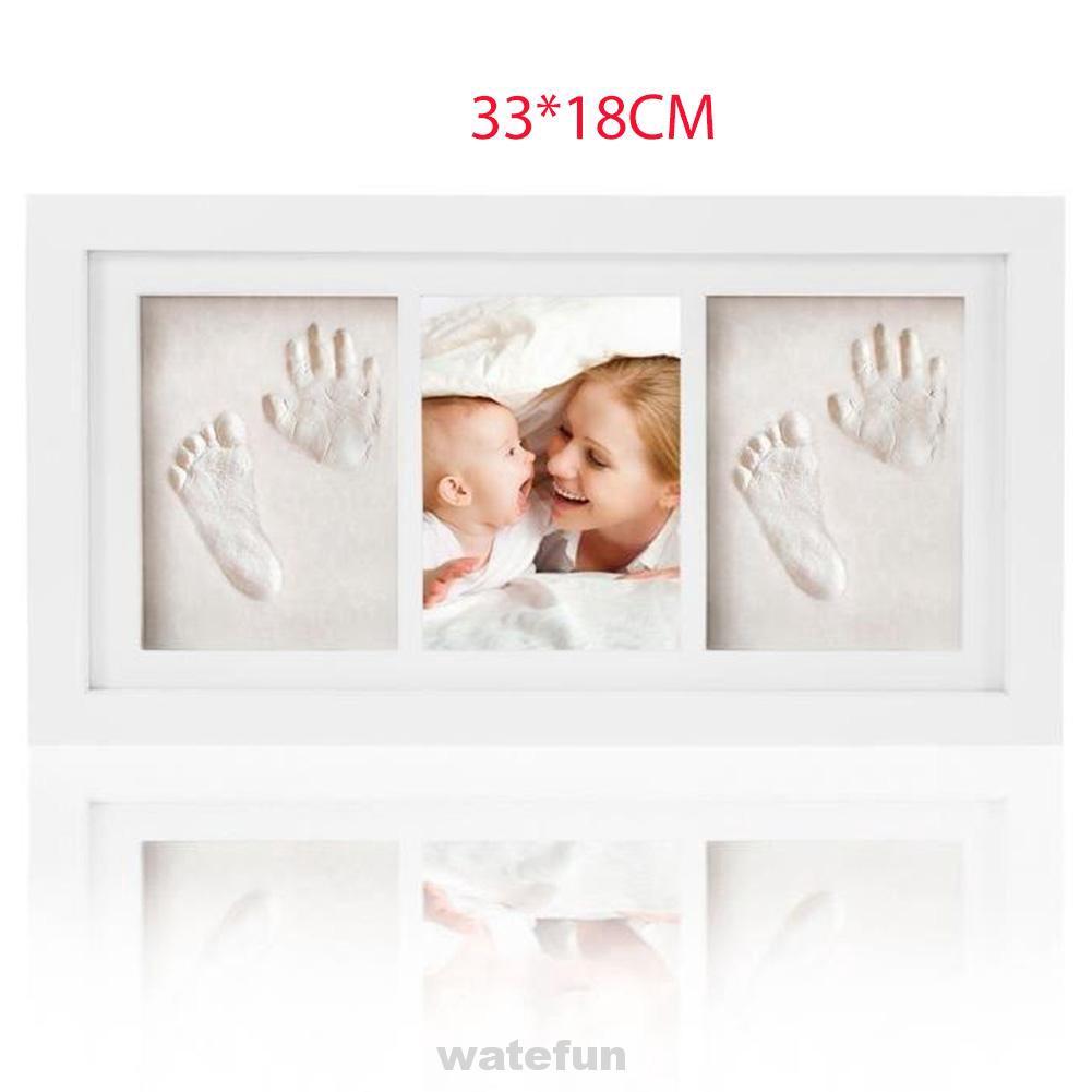 Baby Footprint Kit Photo Frame Handprint Gift Home Decor Growth Record Memory Nontoxic Clay