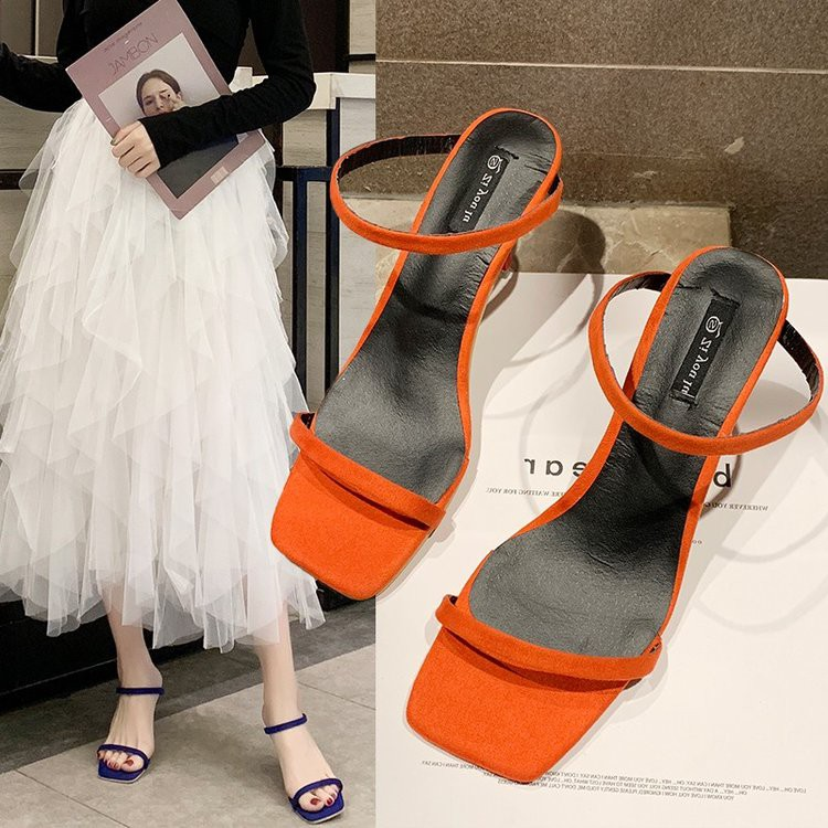 High-heeled slippers women wear fashion shoes women's fine with sexy wild half drag female sandals
