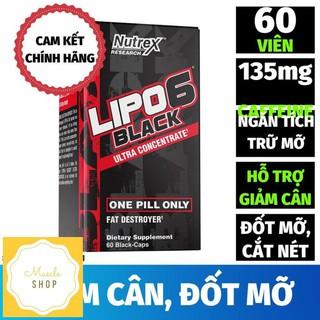Giảm Cân, Đốt Mỡ, Dùng Trong Cutting, Cắt Nét, Lipo-6 Black Ultra Concentrate (60 Viên)