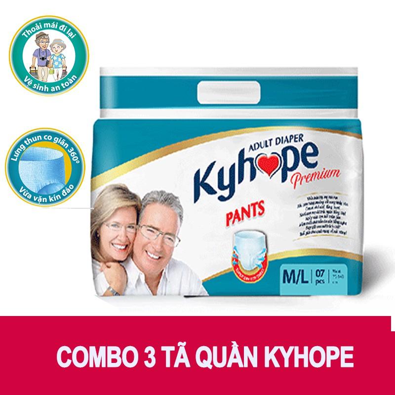 Bộ 3 tã quần người lớn ( 21 Miếng) KyHope