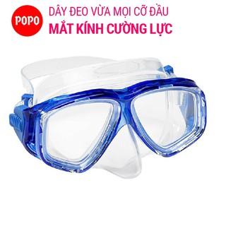 Mặt nạ lặn biển mắt kính cường lực POPO ngăn nước tuyệt đối, hỗ trợ lặn biển chuyên nghiệp thumbnail