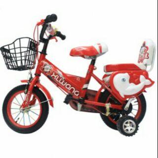 Xe đạp khung vuông giỏ sắt 12 inh.