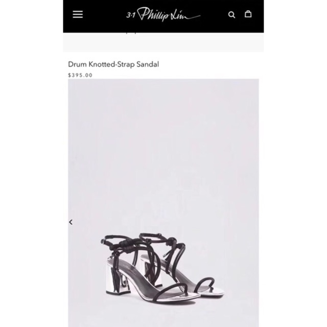 [Order] Sandal PhilipLim 3.1 gót bạc