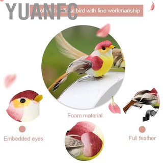 Yuanfc 12Pcs Lovely Simulation Bird Tree Binding Artificial Decor Craft for Plant Home Decoration