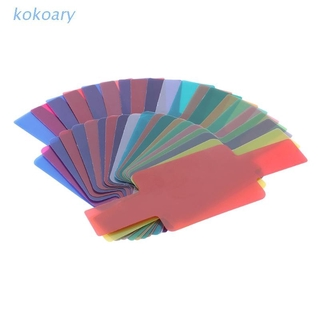 KOK 20 Color Photographic Color Gel Filter Cards Set Flash Speedlite for Canon Nikon