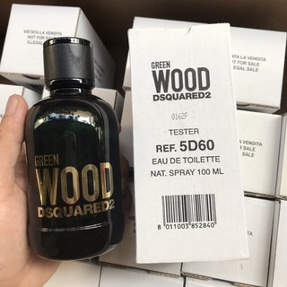 Nước hoa Tester nam Dsquared2 Green Wood Pour Homme EDT 100ml