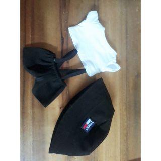 Outfit doll 20cm. Mũ bucket+áo +yếm.