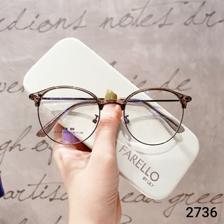 Hình ảnh Gọng kính cận tròn kim loại thời trang nữ Lilyeyewear 2736-6