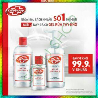 Gel rửa tay khô diệt khuẩn Lifebuoy 235ml thumbnail