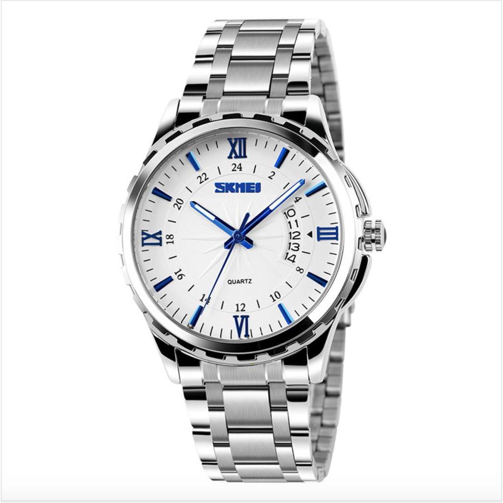 [Tặng vòng tay] Đồng hồ nam Skmei SK9069.02 thời trang chính hãng dây thép chống gỉ