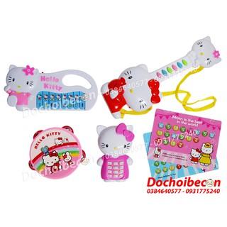 [Nhập 1212TOY Giảm 10%] – Bộ 4 đàn Hello Kitty KT1213 – Dùng pin, có đèn, nhạc (Không Kèm Pin)
