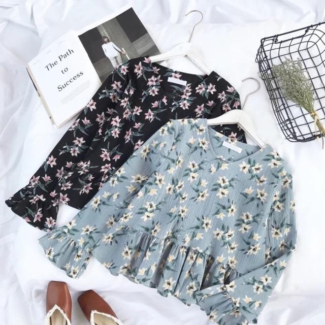 Áo đũi nữ hoa nhí A29