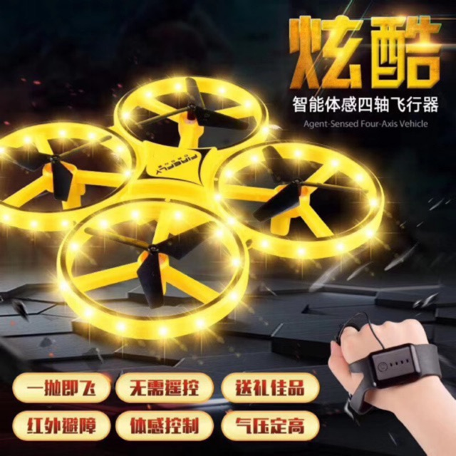 (Bao Giá) Đĩa bay Flycam điều khiển cảm ứng tay