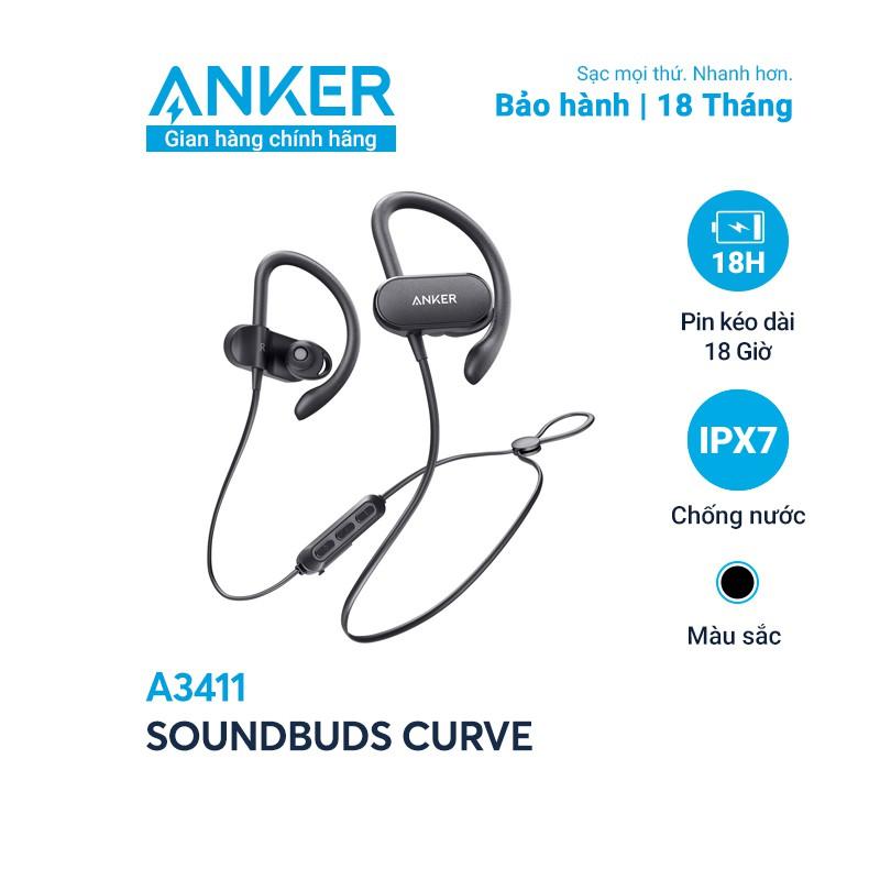 [Mã ELMALL11 giảm 6% đơn 500K] Tai nghe bluetooth SoundCore SoundBuds Curve (by ANKER) - A3411