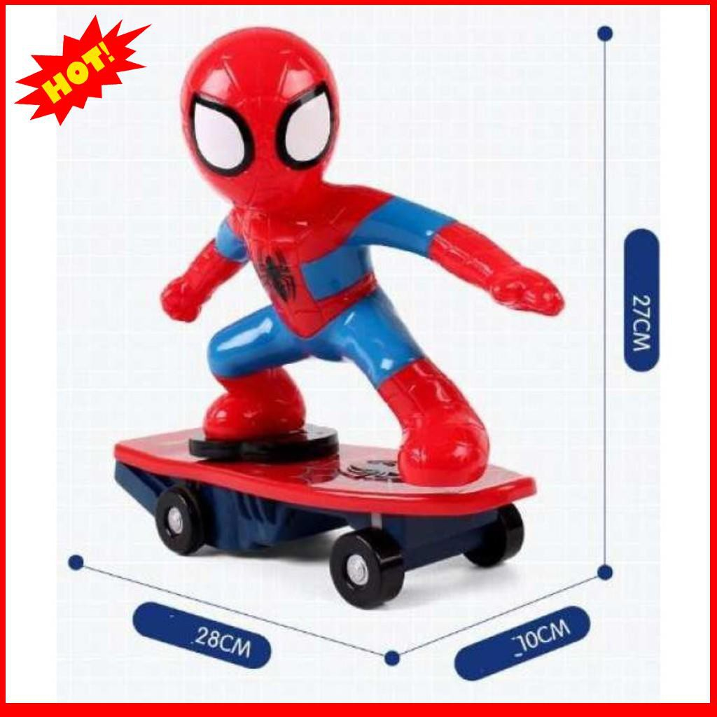 [GIÁ PHÁ ĐẢO]  Đồ Chơi Người Nhện Spider Man Trượt Ván Cho Bé