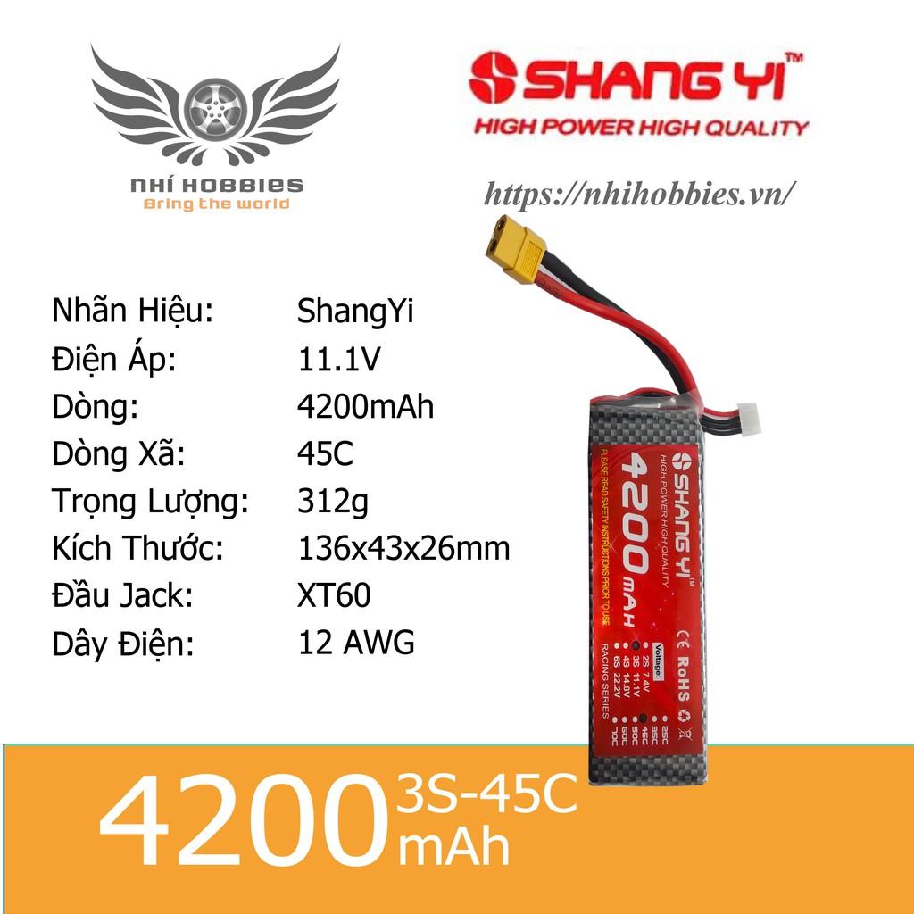 Pin Lipo ShangYi 11.1v 3s 4200mAh 45C