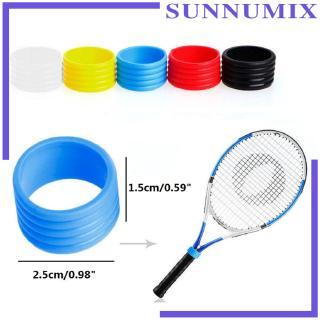 [SUNNIMIX] 2 Pack Silicone Tennis Racket Grip Fix Ring Badminton Sealed Loop Wrap End Lock