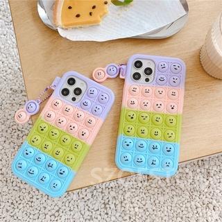 Pop It Stress Reliever Fashion Rainbow Emoji Pendant Soft Silicone Phone Case Cover for Vivo Y73s V20Pro Y12s Y20 Y20i Y20s Y70s X50 Y50 Y30 Y30i Y19 S1Pro S1 Y17 Y15 Y12 Y11