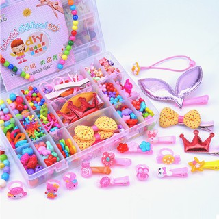 Beautiful Colorful Large 24 Grids Beads Kit Educational Toys Jewellery Hair