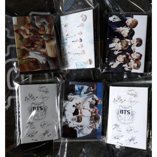 Lomo card  gồm 30 tấm kích thước 5,8×6,8cm chữ ký từng thành viên bts combo 2 hộp -60k