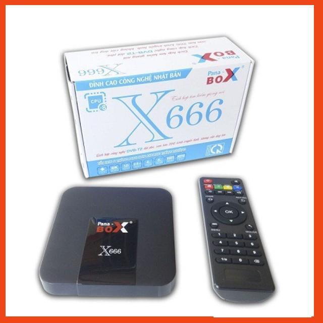 Tivi box Pana box X666 Ram 4G- Bảo hành 6 tháng Giá sỉ