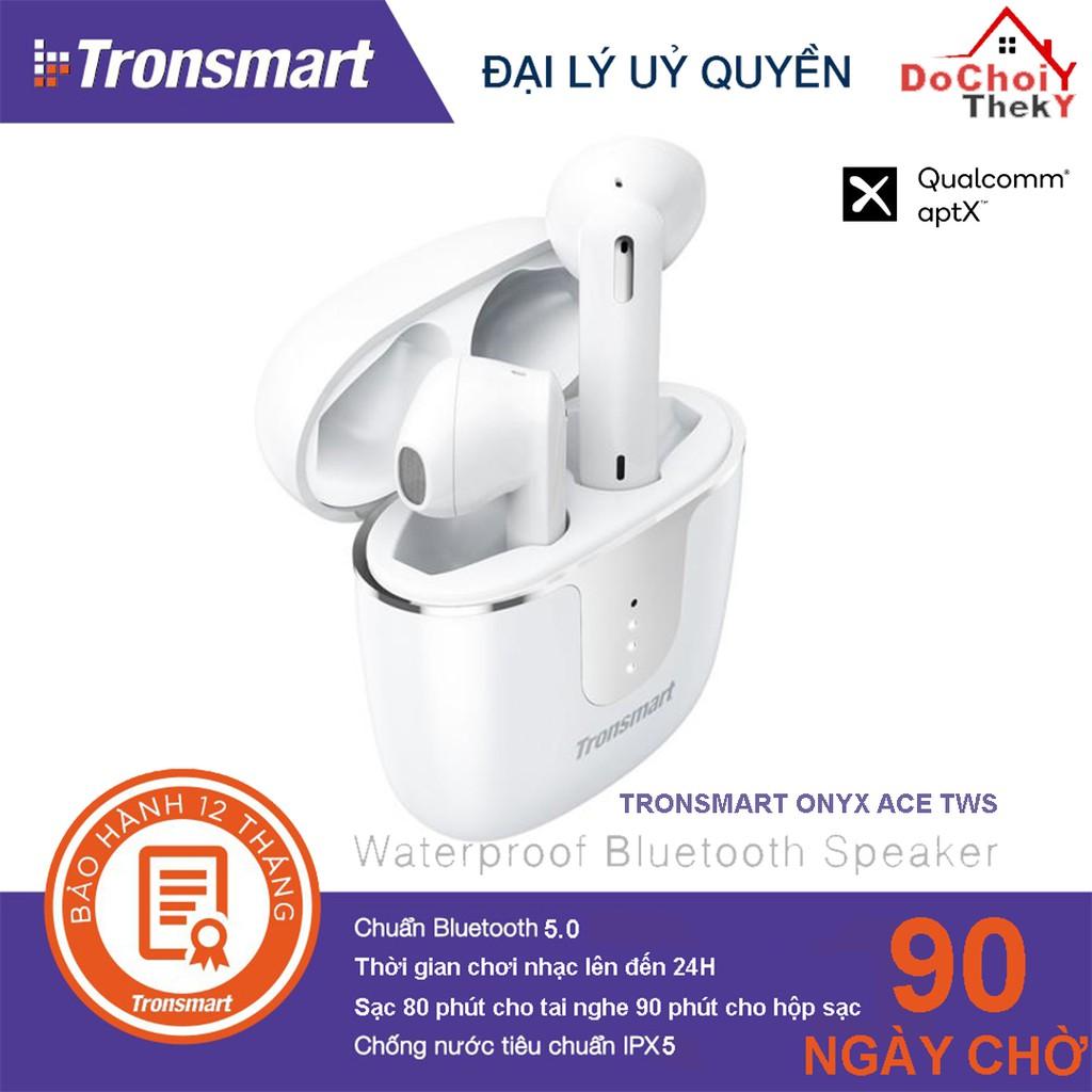 Tai Nghe Bluetooth Tronsmart Onyx Ace TWS không dây 5.0 chống nước IPX5 tích hợp công nghệ Qualcomm APTX hủy tiếng ồn